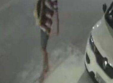 Câmeras de segurança de condomínios da região flagou o crime - Foto: Reprodução