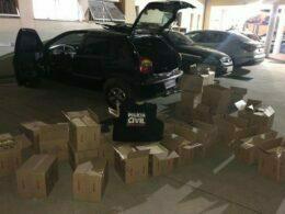 Carga de laticínios roubada é recuperada em Belo Horizonte - Foto: Divulgação/PCMG