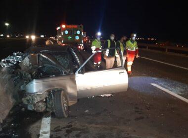 Pai, mãe e filhos morrem em grave acidente na BR-365, em Uberlândia - Foto: Divulgação/CBMMG