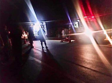 Duas pessoas morrem após ônibus tombar na BR-135, em Joaquim Felício - Foto: Reprodução/Redes Sociais