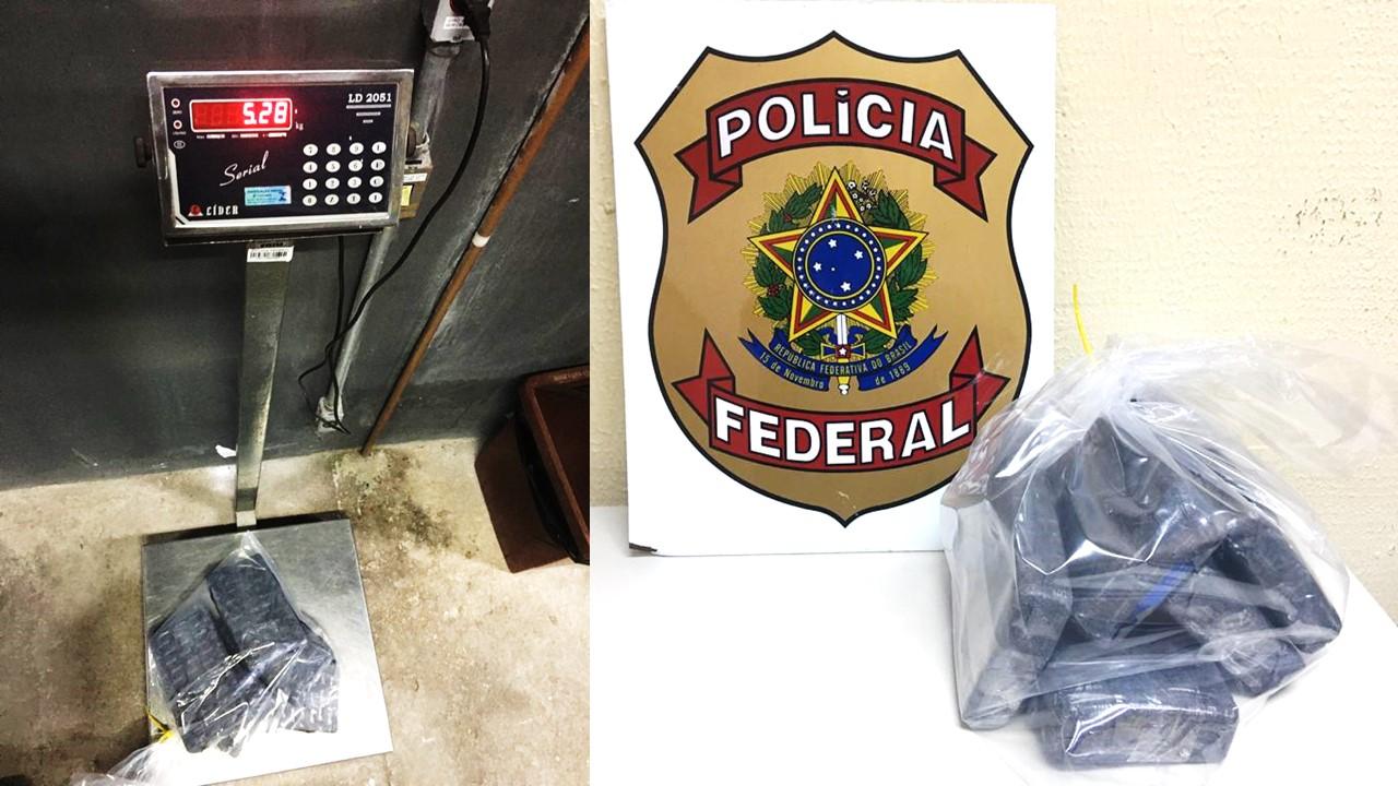 Mulher é presa com 5 quilos de skunk no Aeroporto de Confins - Foto: Divulgação/Polícia Federal