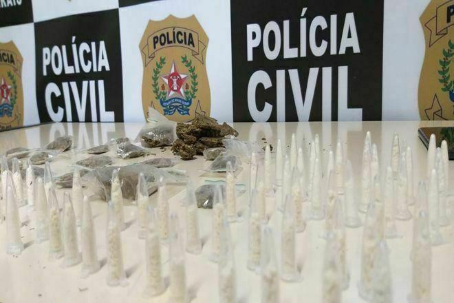 Operação de combate ao tráfico apreende mais de 100 pinos de cocaína em Juiz de Fora - Foto: Divulgação/PCMG
