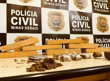 Três pessoas são presas por esquema de venda de drogas em Juiz de Fora - Foto: Divulgação/PCMG