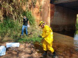 Feto é encontrado dentro de córrego São José em Ituiutaba - Foto: Divulgação/Corpo de Bombeiros