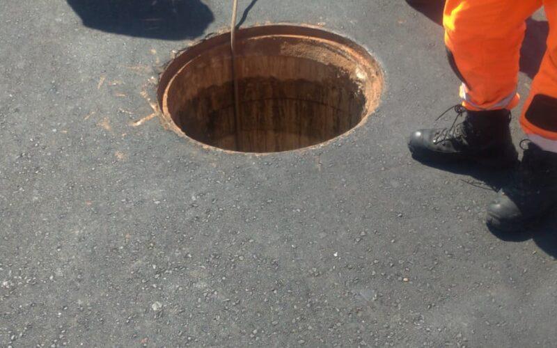 Homem morre eletrocutado ao tentar furtar cabos de energia na Avenida Cristiano Machado, em BH - Foto: Divulgação/Corpo de Bombeiros
