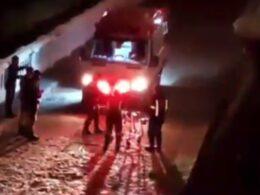 Jovem cai de 7 metros de altura após ser empurrado na Rua Sapucaí, em BH - Foto: Redes Sociais