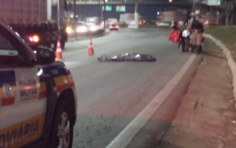 Motocicleta tem mal súbito e morre no Anel Rodoviário, em Belo Horizonte - Foto: Reprodução/Redes Sociais