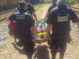 Homem fica ferido após ser atropelado por metrô em Belo Horizonte - Foto: Divulgação/CBMMG
