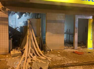 Grupo tenta explodir caixa eletrônico em Coimbra, na Zona da Mata - Foto: Reprodução/Redes Sociais
