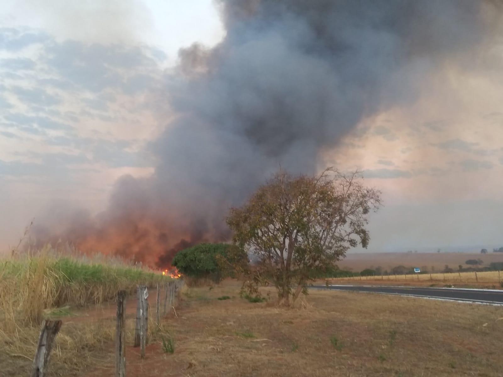 Incêndio destrói 300 hectares de mata preservada em Tupaciguara - Foto: Divulgação/Corpo de Bombeiros