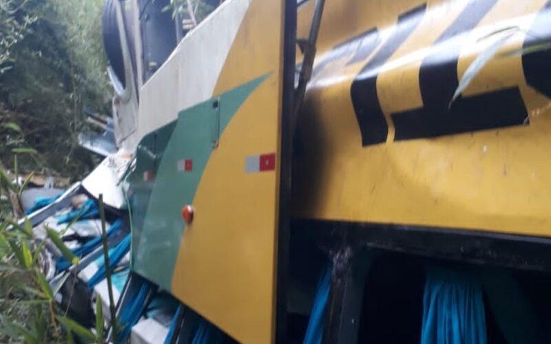 Oito pessoas morrem após ônibus com 52 passageiros capota na BR-116, em Leopoldina - Foto: Reprodução/Redes Sociais