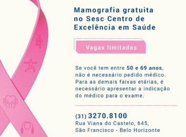 Sesc oferece mamografias gratuitas em Belo Horizonte - Foto: Divulgação/Sesc