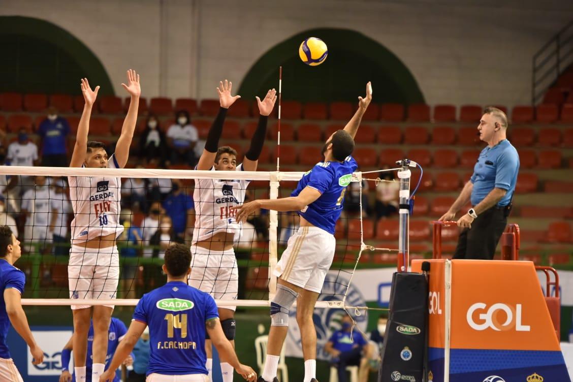 Sada Cruzeiro bate o Minas e é duodecacampeão do Campeonato Mineiro - Foto: Divulgação/Matheus Gonçalves/FMV