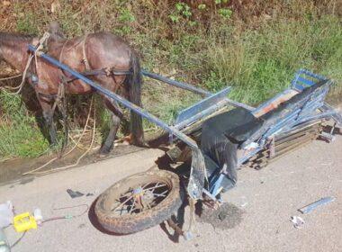 Criança de 10 anos morre após acidente entre moto e charrete, em Piranguinho - Foto: Divulgação/CBMMG