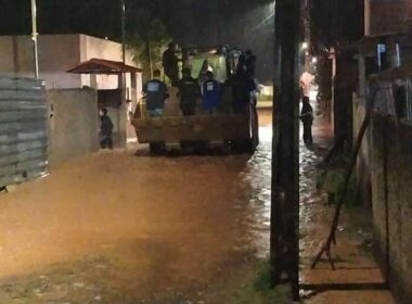 Chuva deixa moradores ilhados e desabrigados em Ouro Preto, na Região Central - Foto: Divulgação/Prefeitura de Ouro Preto