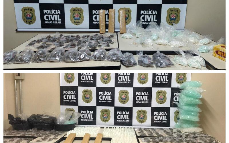 Polícia fecha laboratório de preparo e armazenamento de drogas em BH - Foto: Divulgação/PCMG