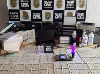 Polícia prende o principal fornecedor de documentos falsos em Vespasiano - Foto: Divulgação/PCMG